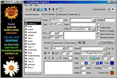 1 Cool Button Tool - Java 5.0 screenshot