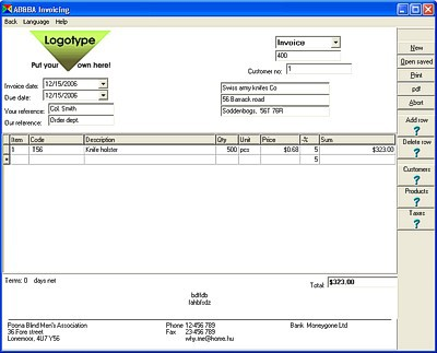 AB Invoicing 10.3.5.0 screenshot