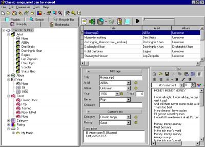 Advanced MP3 catalist 1.2 screenshot