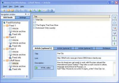 Alnera FeedWorkshop RSS Editor 1.1 screenshot