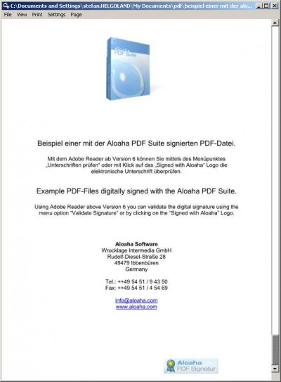 Aloaha PDF Signator 6.0.15 screenshot