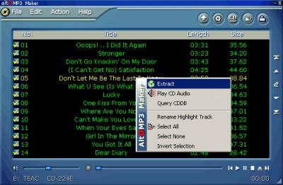 AltoMP3 Gold 5.02 screenshot