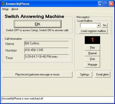 AnswerMyPhone 2.7 screenshot
