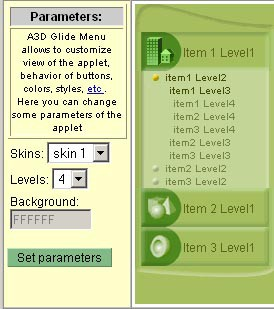 Anything3D Glide Menu 1.0 screenshot