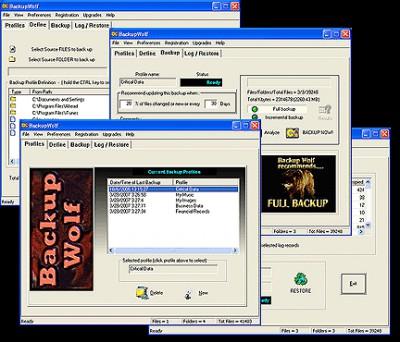 Backup Wolf 3.22 screenshot
