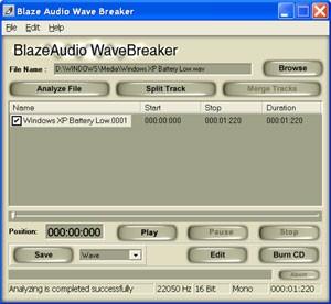Blaze Audio Wave Breaker 1.1 screenshot