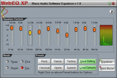 Blaze Audio WebEQ XP 1.0 screenshot