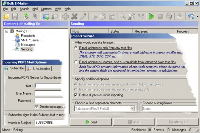 Bulk Email mailer 7.352 screenshot