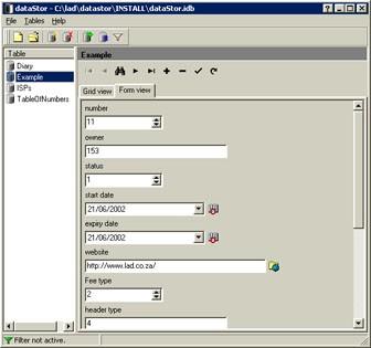 dataStor 0.3 screenshot