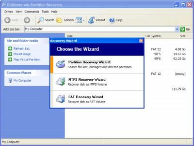 DiskInternals Partition Recovery 3.8 screenshot