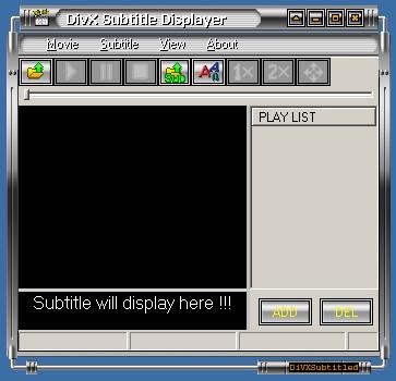 DivX Subtitle Displayer 5.0 screenshot