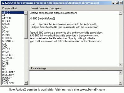 DoneEx AppBinder ActiveX 1.1.2 screenshot