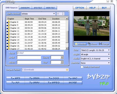 DVDZip 4.0 screenshot