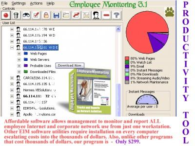 Employee Monitoring 3.1 screenshot