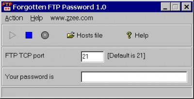 Forgotten FTP Password 1.0 screenshot