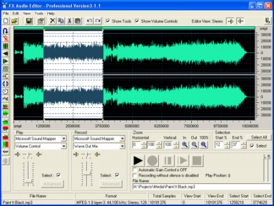 Fx Audio Editor 3.1.1 screenshot