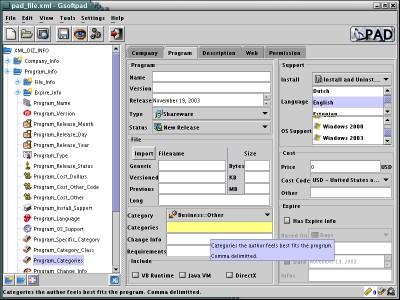 Gsoftpad 2.1 screenshot