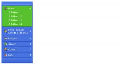 Happy Sliding Menus 1.11 screenshot