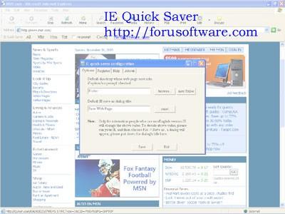 IE Quick Saver 1.3 screenshot
