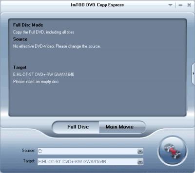 ImTOO DVD Copy Express 2.1.20.053 screenshot
