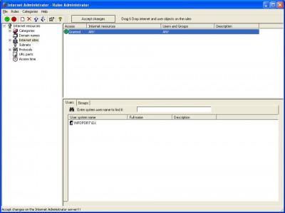 Internet Administrator 2.6 screenshot