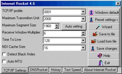Internet Rocket Homepageware 5.0 screenshot