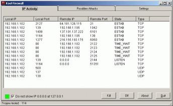 Kool Firewall 2.43.116 screenshot