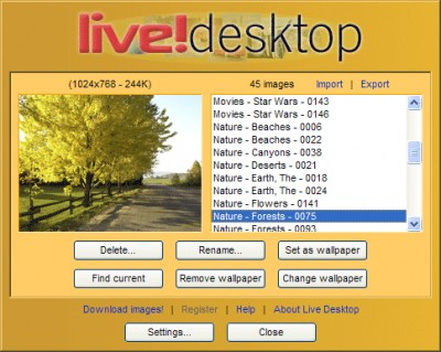 Live Desktop 1.0 screenshot