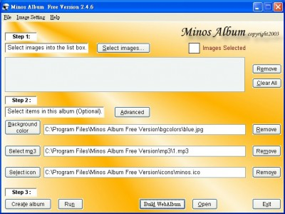 Minos Album Free Version 2.5.8 screenshot