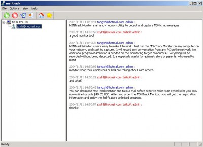 MSN Track Monitor 3.55 screenshot
