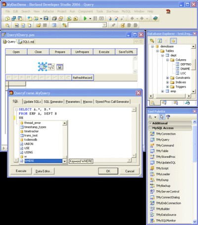 MySQL Data Access Components 9.1 screenshot