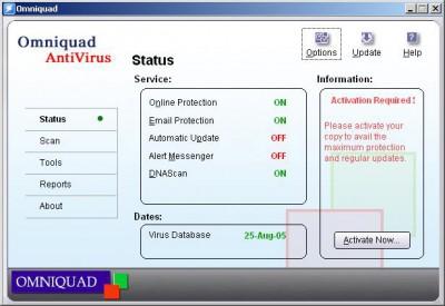 Omniquad AntiVirus TS 3.0.0/A screenshot