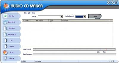 OSS Audio CD Maker 7.3.3.3000 screenshot
