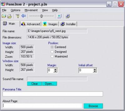 Pano2exe 2.12 screenshot