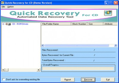 Quick Recovery for CD 10.x screenshot
