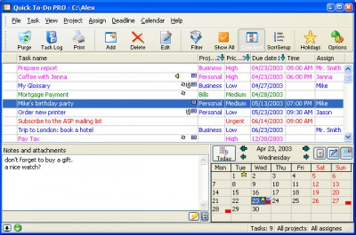 Quick To-Do Pro 4.5.1 screenshot