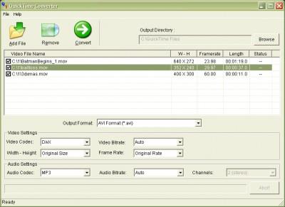 QuickTime Converter 2007 screenshot