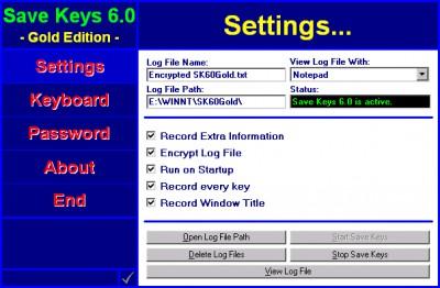 Save Keys 6.0 screenshot