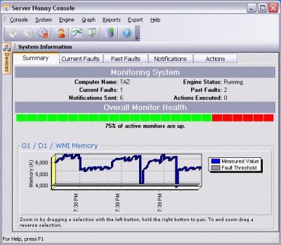 Server Nanny Network Monitor 4.0.0 screenshot