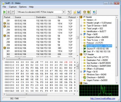 Sniff - O - Matic 1.07 screenshot
