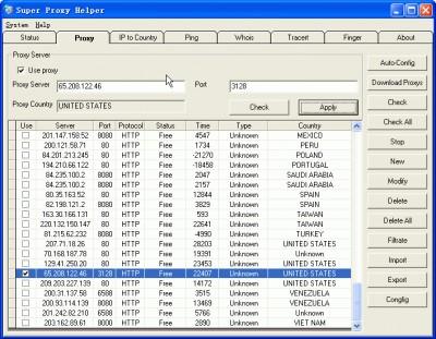 Super Proxy Helper 1.10 screenshot