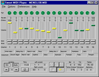 Sweet MIDI Player for Windows 2.4.0 screenshot