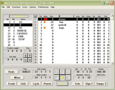 Sweet Sixteen MIDI Sequencer 3.3.3 screenshot