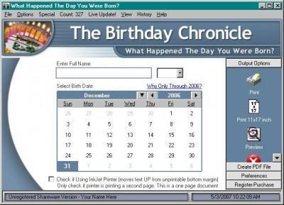 The Birthday Chronicle 9.0 screenshot