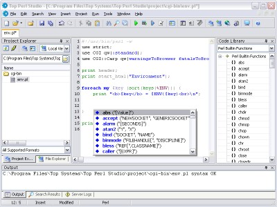 Top Perl Studio 1.27 screenshot