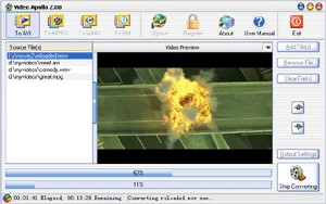 Video Apollo 2.20 screenshot