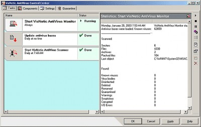 VisNetic AntiVirus for Workstations 4.5.0 screenshot