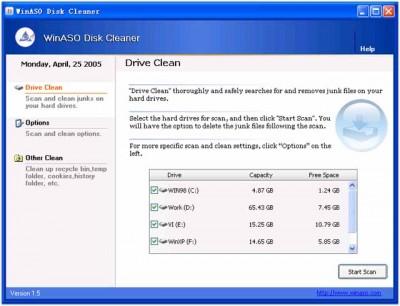 WinASO Disk Cleaner 1.5 screenshot