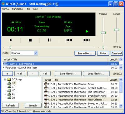WinCD 2.71 screenshot