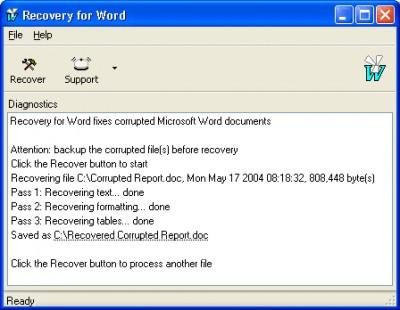 WordRecovery 3.0.421 screenshot